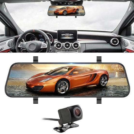 Car DVR - 10 inch 140 Degrees Wide Angle 1080P Front Camera Starlight Night Vision + Rear Camera 120 Degrees 480P