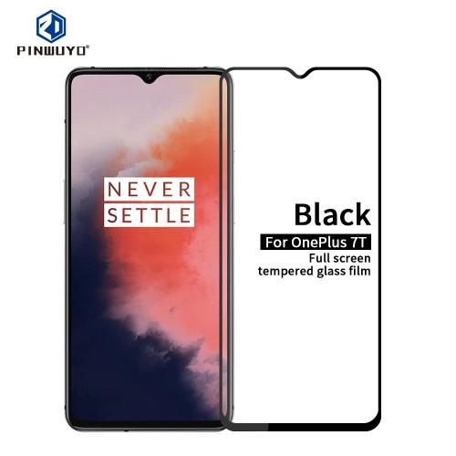 For Oneplus 7T PINWUYO 9H 2.5D Full Screen Tempered Glass Film(Black)