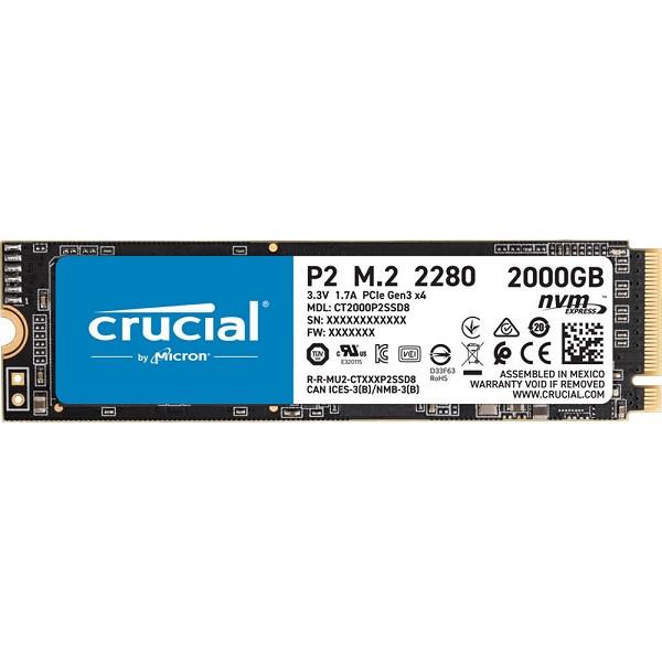 Crucial P2 Nvme M.2 2000GB (CT2000P2SSD8)