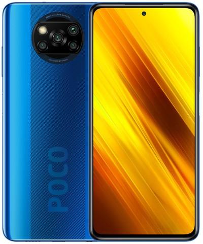 Xiaomi Pocophone X3 NFC Dual Sim 64GB Blue (6GB RAM) - Global Version + FREE Mi True Wireless Earbuds Basic