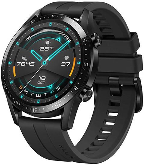 Huawei Watch GT 2 46mm Matte Black - Sport Ver (CN) (SpO2) + FREE Huawei Mini Wireless Speaker