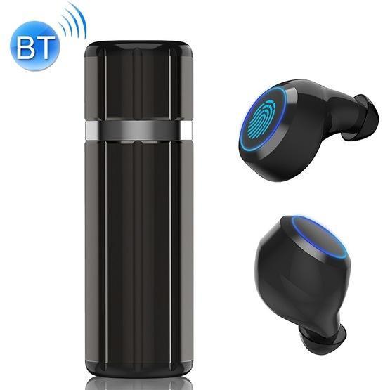 HM51 Bluetooth 5.0 Wireless Bluetooth Earphone with Charging Box(Gun Metal)