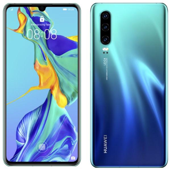Huawei P30 ELE-L29 Dual Sim 128GB Aurora (8GB RAM) + FREE Anti-fingerprint Tempered Glass Screen Protector