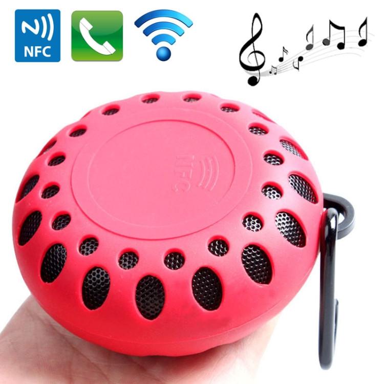 BTS-25OK Outdoor Sports Portable Waterproof Bluetooth Speaker (Red)