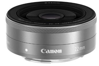 Canon EF-M 22mm F2.0 STM Silver (White box)