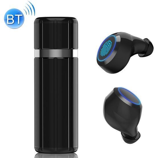 HM51 Bluetooth 5.0 Wireless Bluetooth Earphone with Charging Box(Black)