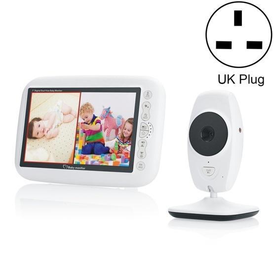 7Inch Larger Screen Display Wireless Digital Monitoring Camera Baby Career Monitor Wireless Baby Monitor SP870 - UK Plug