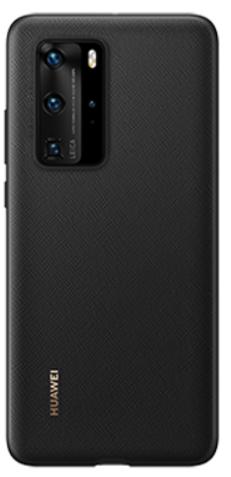 Huawei P40 Pro PU Phone Cover Black