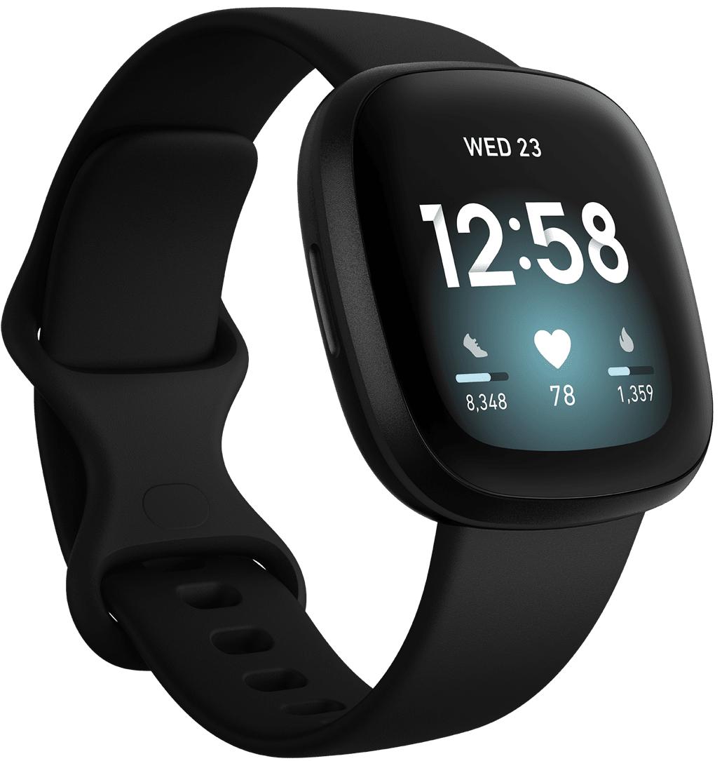 Fitbit Versa 3 Black/Black Aluminium