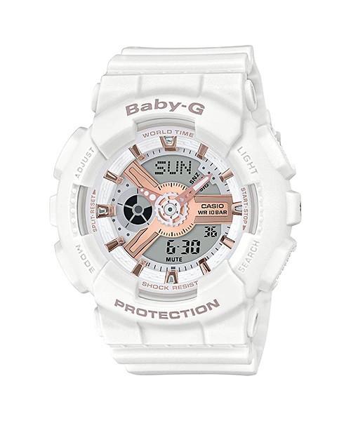 Casio Baby-G BA-110RG-7A Women Watch White