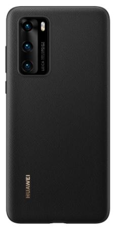 Huawei P40 PU Phone Cover Black