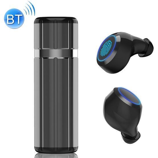 HM51 Bluetooth 5.0 Wireless Bluetooth Earphone with Charging Box(Grey)
