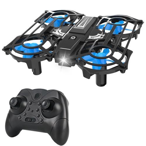 C56 Mini Drone Four-Axis Grid Aircraft Children Toy (Blue)