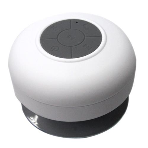 BTS-06 Mini Waterproof IPX4 Bluetooth V2.1 Speaker (White)