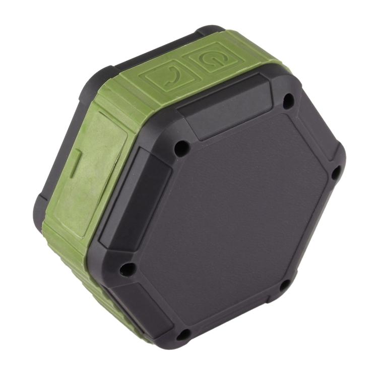 BT508 Portable Life Waterproof Bluetooth Stereo Speaker (Army Green)