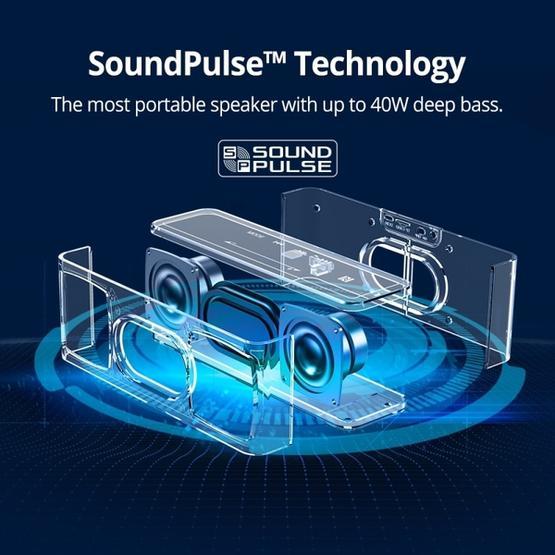 20W Outdoor Portable IPX6 Waterproof Bluetooth V4.0  Stereo Wireless Bluetooth Speaker (Black)