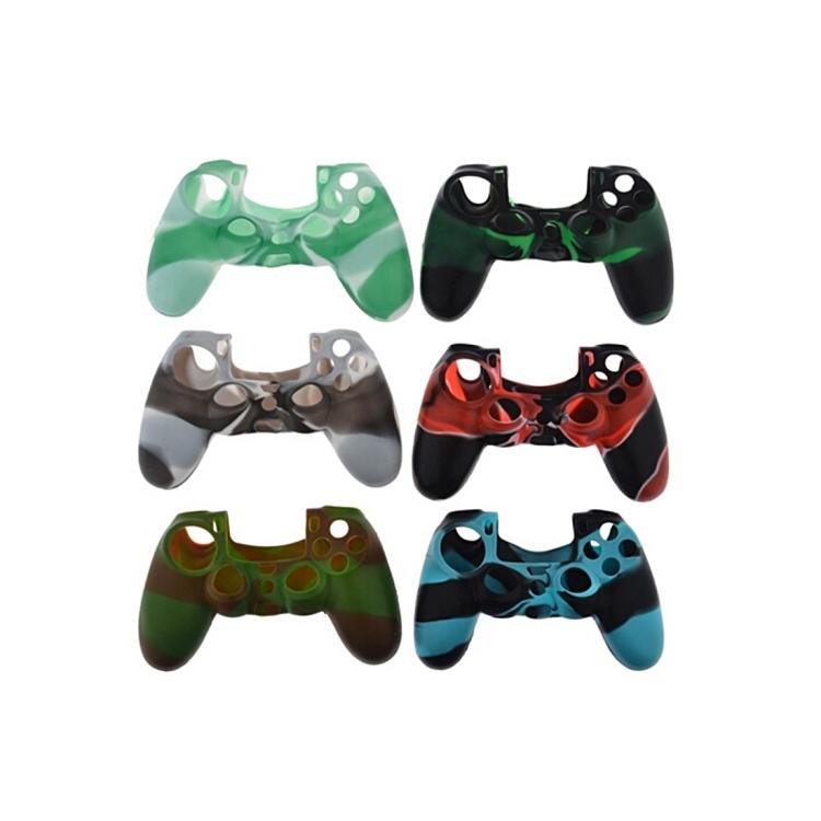 Camo Silicone Protective Case for PS4 Controller, Random Color Delivery