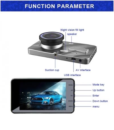 Car DVR - J20-1 2.5D 4 inch 170 Degrees Wide Angle Full HD 1080P