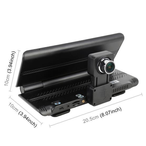 Car DVR - 7 inch Foldable DVR Rearview Mirror Dual Camera