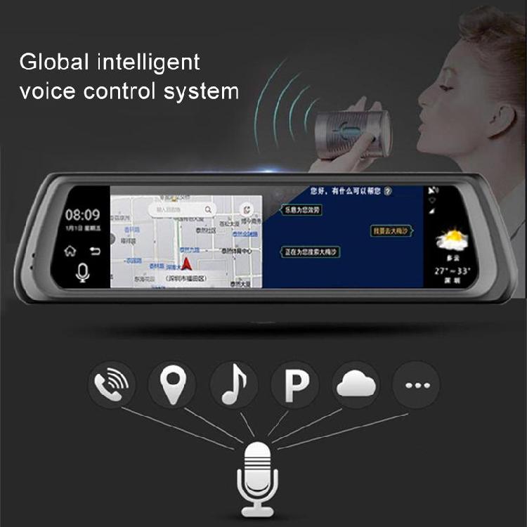 Car DVR - K920 10 inch 1080P Multi-functional ADAS Dual Lens