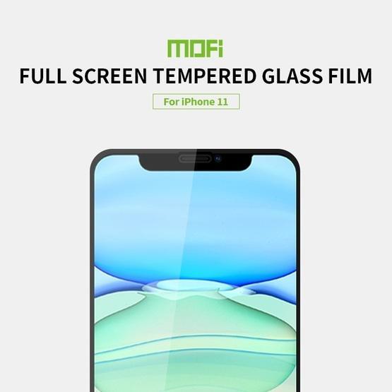 For iPhone 11 MOFI 9H 2.5D Full Screen Tempered Glass Film(Rose gold)