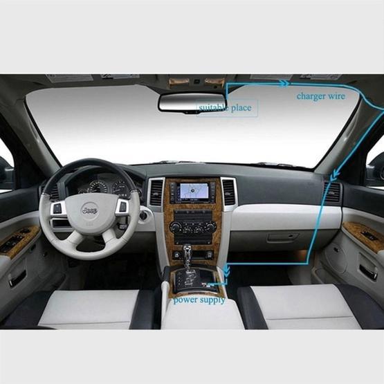 Car DVR - GT2000ZL HD 1080P 3.0 inch Screen Display (white)